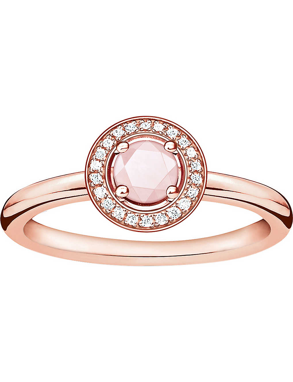 6a8b41586 THOMAS SABO - Glam & Soul 18ct rose gold-plated, rose quartz and ...