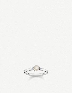THOMAS SABO Vintage sterling silver, pearl and diamond ring