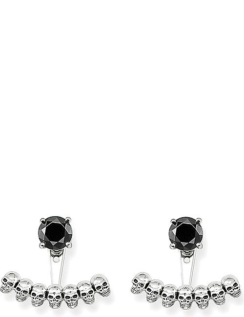 THOMAS SABO Sterling silver skull and black onyx ear jackets