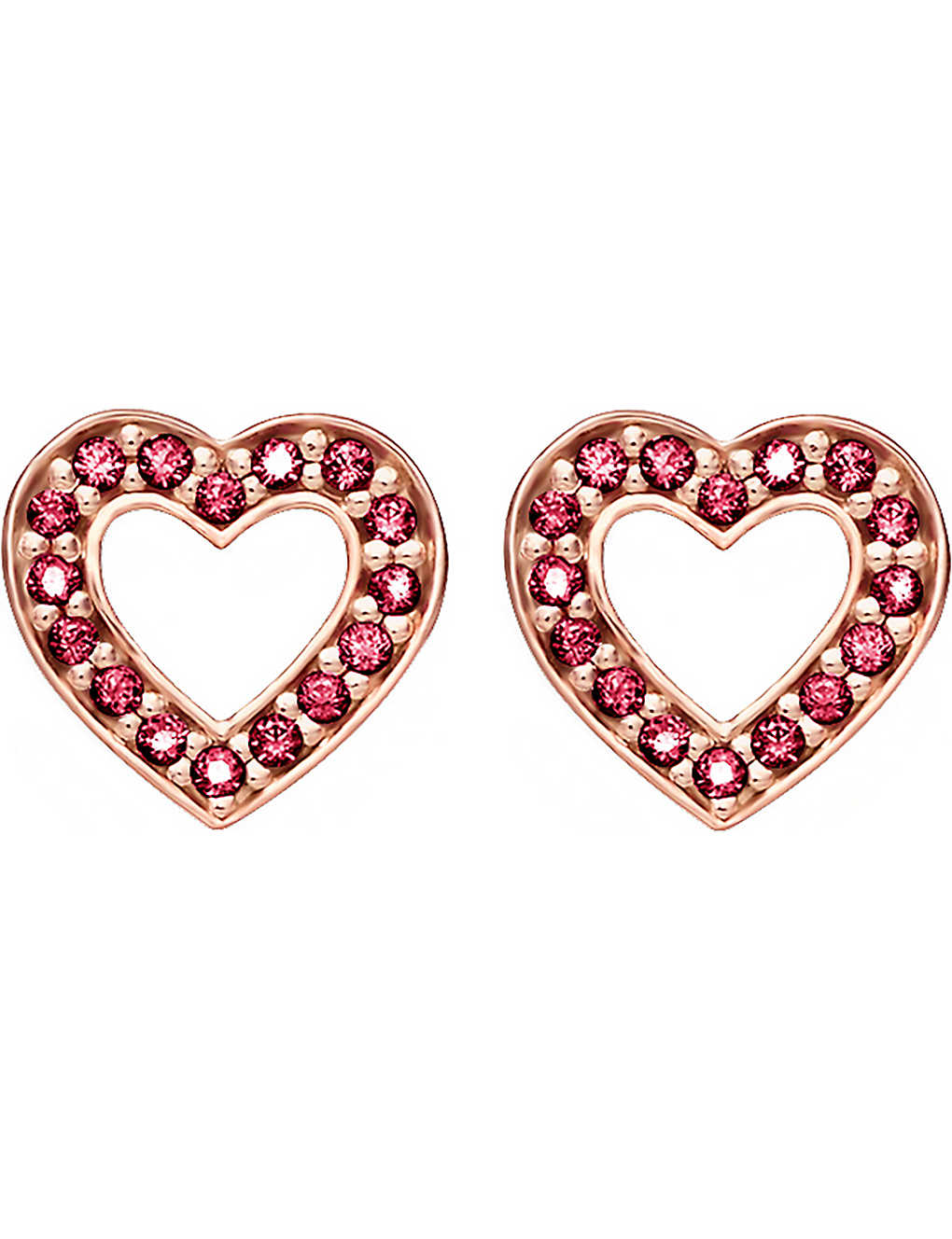 90bb74c06 THOMAS SABO - Glam & Soul heart 18ct rose gold-plated earrings ...