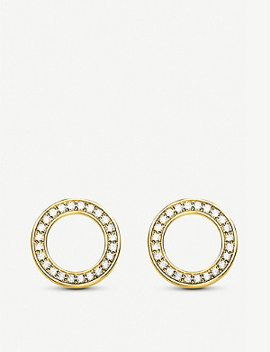 9b11d20c6 THOMAS SABO · Zirconia-gemstone 18ct yellow gold-plated sterling silver ear  studs
