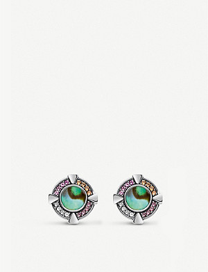 THOMAS SABO Paradise sterling silver and mother-of-pearl earrings