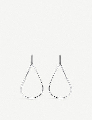 THOMAS SABO Heritage sterling silver teardrop hoop earrings