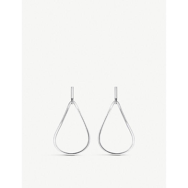 THOMAS SABO | Heritage Sterling Silver Teardrop Hoop Earrings | Goxip