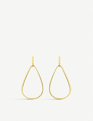 THOMAS SABO Heritage 18ct yellow gold-plated teardrop hoop earrings