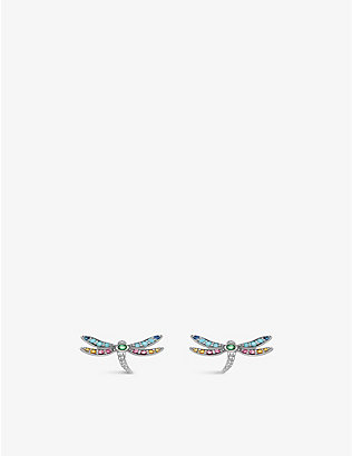 THOMAS SABO: Paradise dragonfly sterling silver earrings