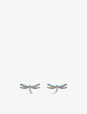 THOMAS SABO Paradise dragonfly sterling silver earrings