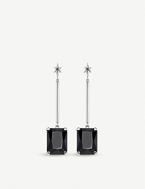 THOMAS SABO Sterling silver and zirconia drop earrings