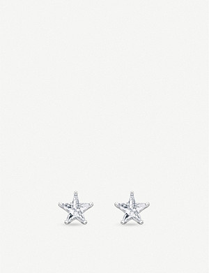 THOMAS SABO Star-shaped zirconia and sterling silver stud earrings