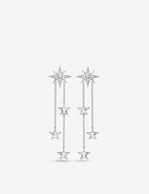 THOMAS SABO Magic Stars zirconia and sterling silver drop earrings