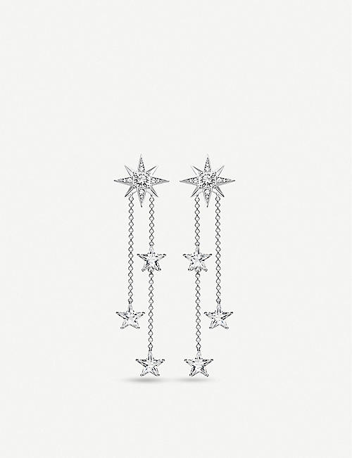 THOMAS SABO: Magic Stars zirconia and sterling silver drop earrings