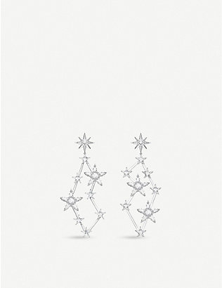 THOMAS SABO: Magic Star constellation zirconia and sterling silver drop earrings