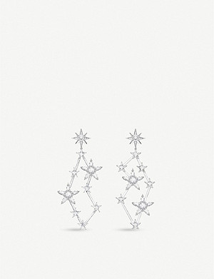 THOMAS SABO Magic Star constellation zirconia and sterling silver drop earrings