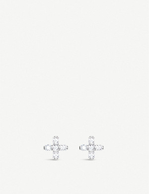 THOMAS SABO Cross zirconia sterling silver stud earrings