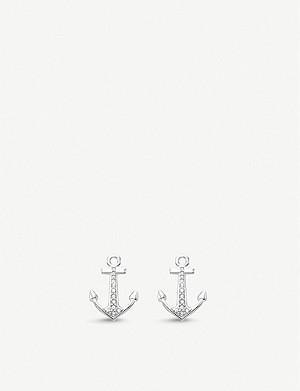 THOMAS SABO Anchor zirconia sterling silver stud earrings