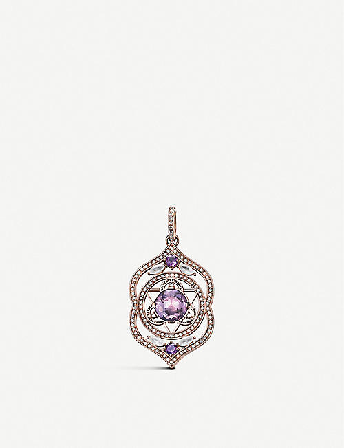 THOMAS SABO: Third Eye Chakra 18ct rose-gold, amethyst and diamond pendant