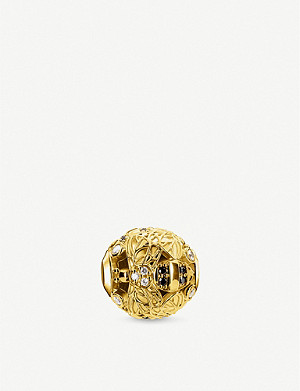 THOMAS SABO Bee zirconia and 18ct gold-plated charm
