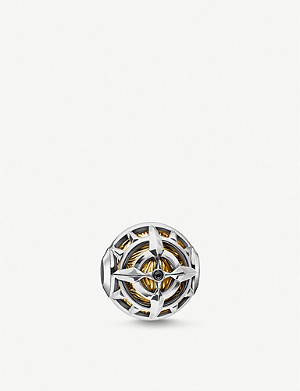 THOMAS SABO 18k yellow gold-plated sterling silver compass bead