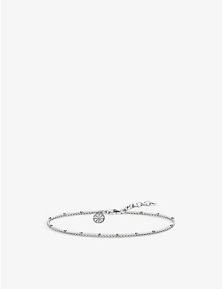 THOMAS SABO: Karma wheel sterling silver bracelet