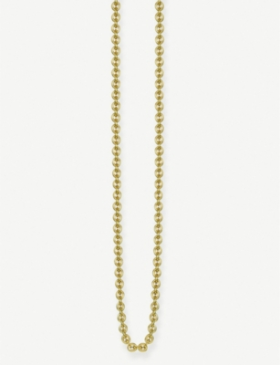THOMAS SABO Anchor Chain 18ct yellow gold-plated necklace