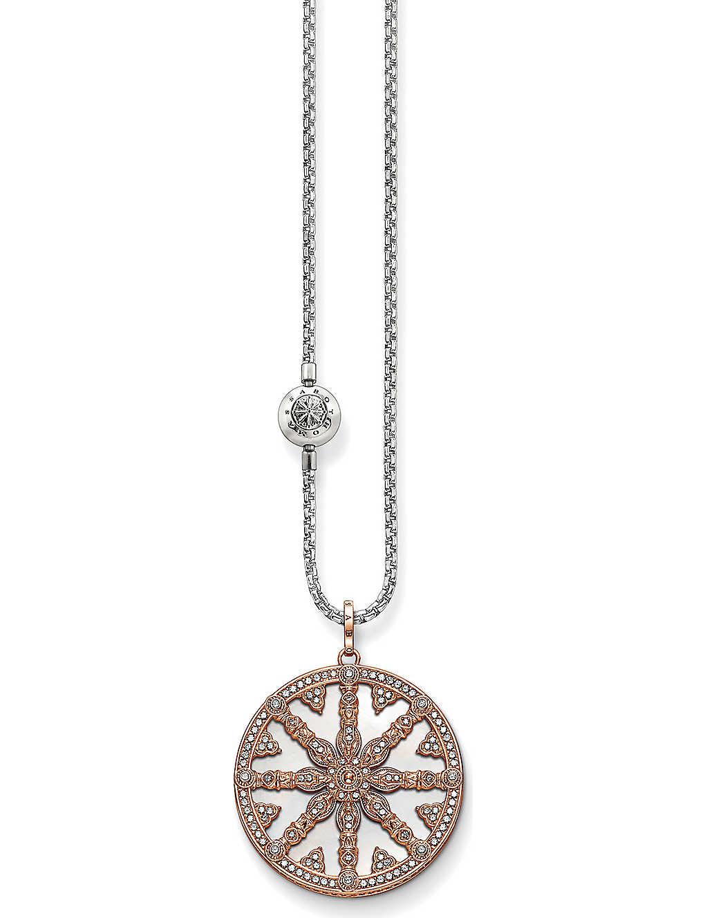 d60529475 THOMAS SABO - Karma beads wheel of karma 18ct rose gold-plated ...