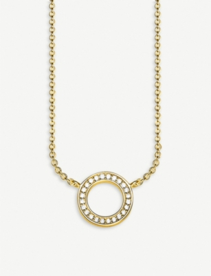 THOMAS SABO Circle 8ct yellow gold-plated sterling silver necklace