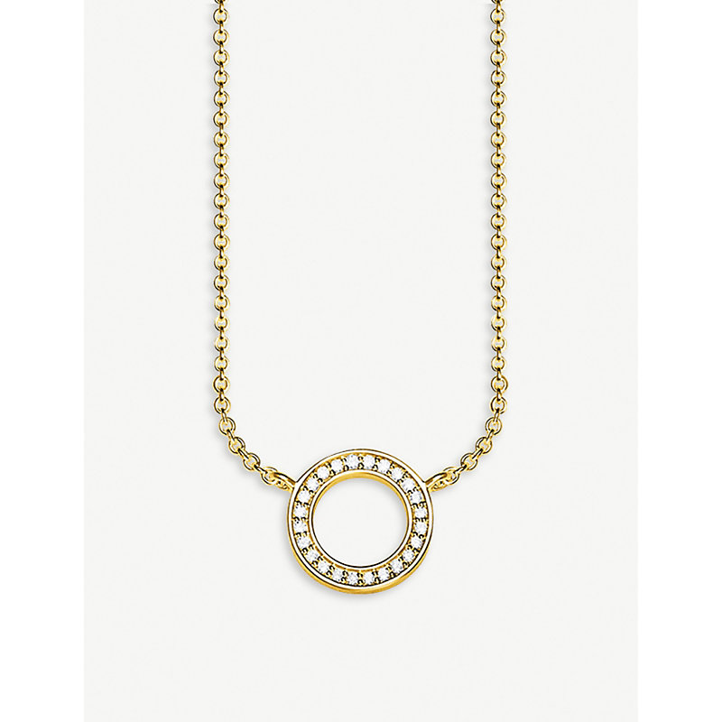 THOMAS SABO | Circle 8ct Yellow Gold-Plated Sterling Silver Necklace | Goxip