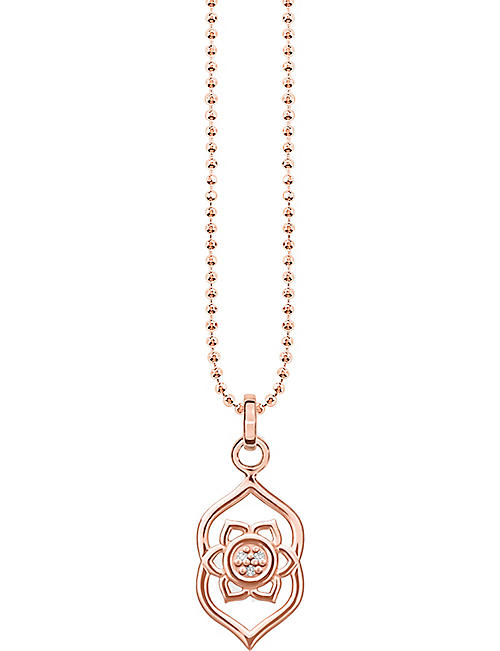 76988aed THOMAS SABO Ājñā chakra 18ct rose gold-plated sterling silver and crystal  necklace