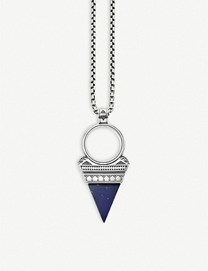 THOMAS SABO Triangle Blu lapis lazuli stone sterling silver necklace