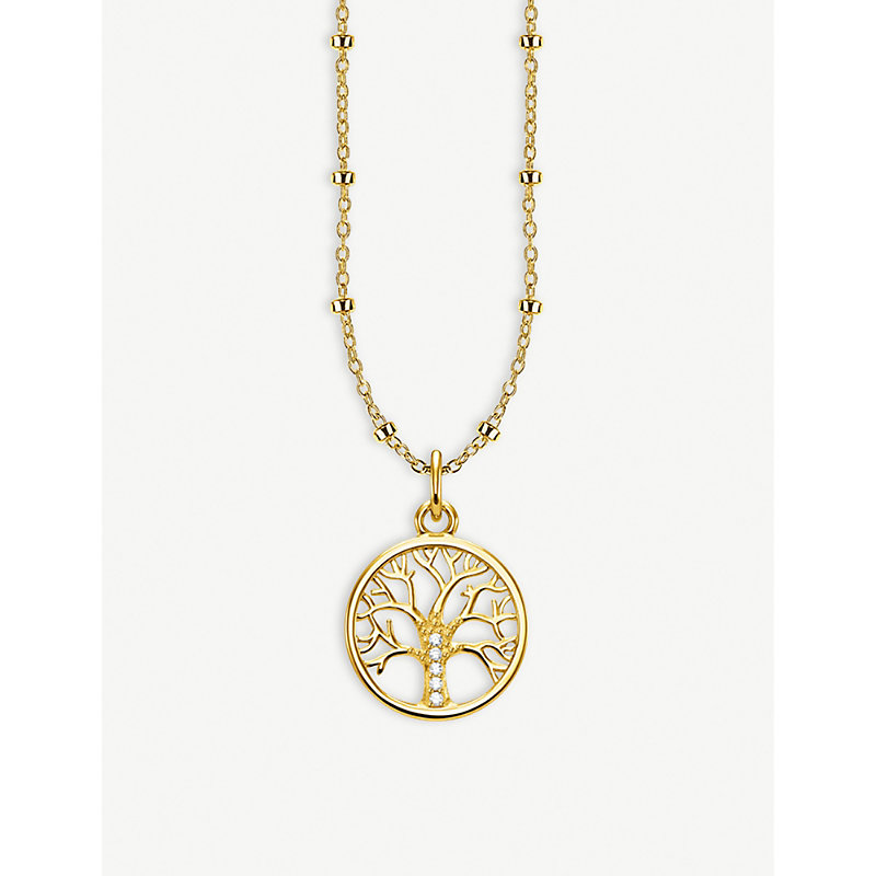 THOMAS SABO | Tree Of Love 18ct Yellow Gold-Plated Necklace | Goxip