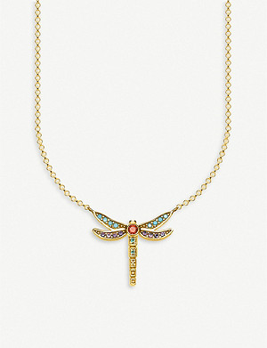 THOMAS SABO Dragonfly 18ct yellow-gold plated silver neckalce