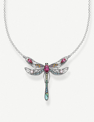 THOMAS SABO Paradise Colours dragonfly sterling silver necklace