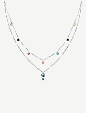 THOMAS SABO Colourful Stones sterling silver and zirconia necklace
