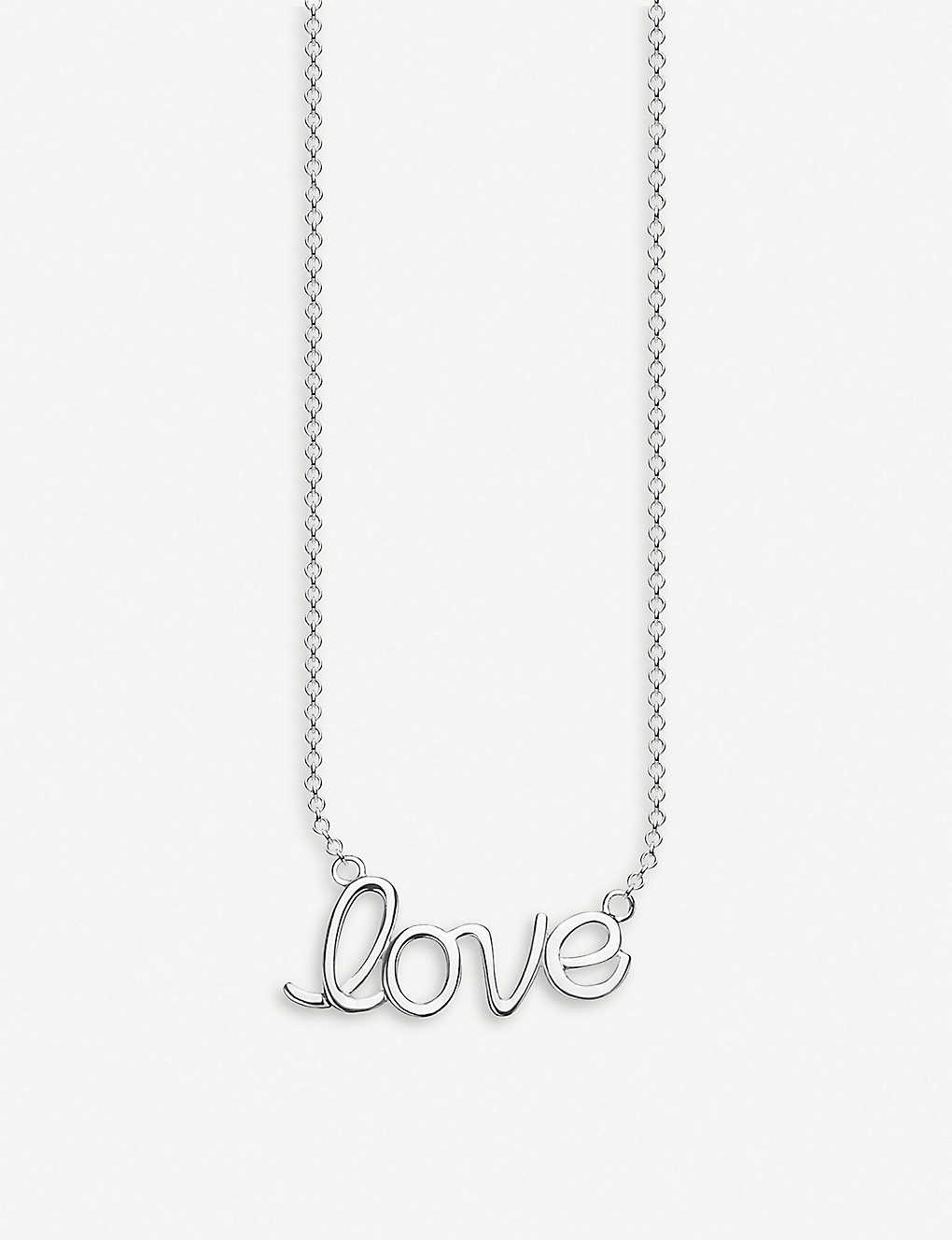 THOMAS SABO: Love sterling silver necklace