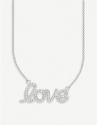 THOMAS SABO: Love sterling silver and zirconia necklace