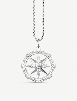 THOMAS SABO Compass sterling silver and cubic zirconia necklace