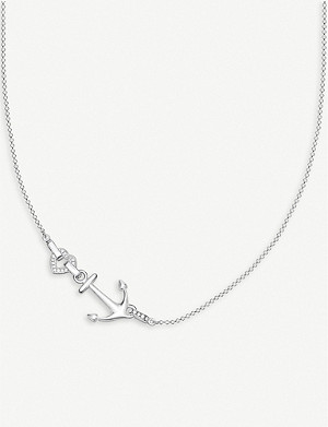THOMAS SABO Anchor and Heart sterling silver and cubic zirconia necklace