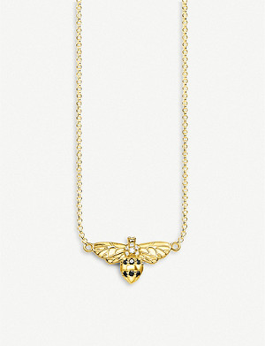 THOMAS SABO Bee 18ct yellow-gold silver and zirconia necklace