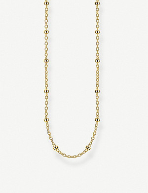 THOMAS SABO Round Belcher 18ct gold-plated chain necklace
