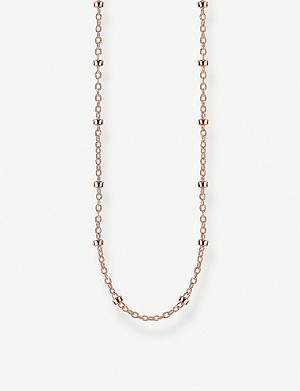 THOMAS SABO Round Belcher 18ct rose gold-plated chain necklace