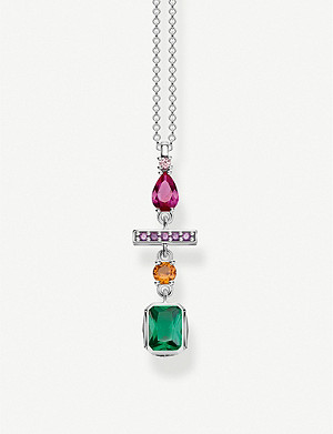 THOMAS SABO Colourful Magic Stones sterling silver necklace