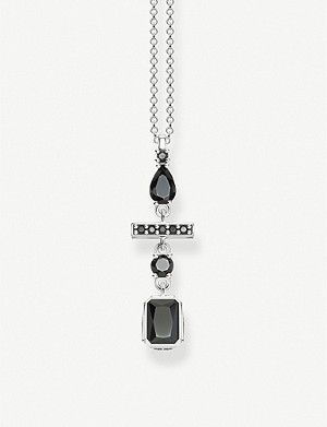 THOMAS SABO Black Magic zirconia and sterling silver necklace