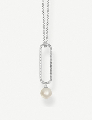 THOMAS SABO Freshwater pearl and sterling silver necklace