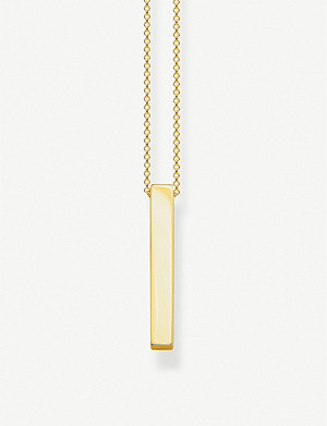 THOMAS SABO Cuboid 18ct yellow gold-plated sterling silver necklace