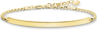 THOMAS SABO Love Bridge 18ct yellow gold-plated bracelet