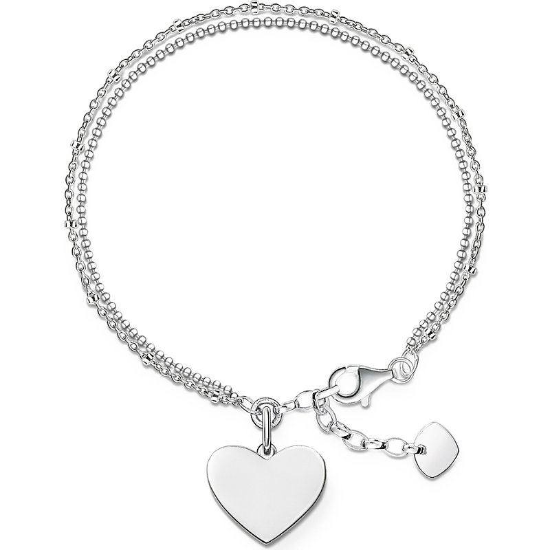 THOMAS SABO | Thomas Sabo Sterling Silver Love Bridge Engravable Bracelet | Goxip