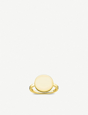 THOMAS SABO Love Bridge 18ct yellow gold-plated ring