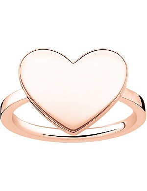 THOMAS SABO Love Bridge Heart 18ct rose gold-plated ring