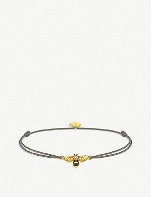 THOMAS SABO Litle Secret Bee 18ct yellow-gold palted silver bracelet