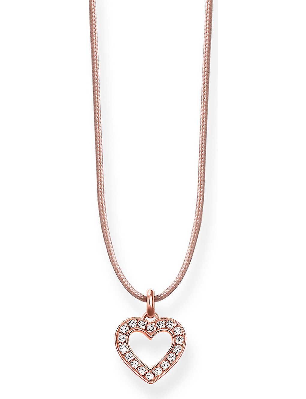 8d496abe5 THOMAS SABO - Little Secrets 18ct rose-gold heart necklace ...